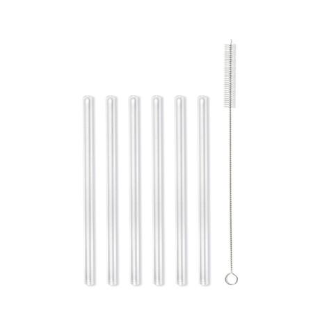 AMO Glass Straws // 15cm // 12 Transparent