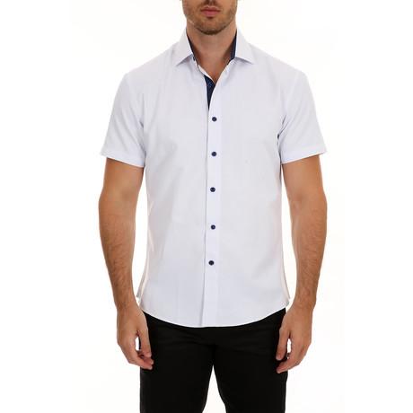 Casey Short-Sleeve Button-Up Shirt // White (XS)