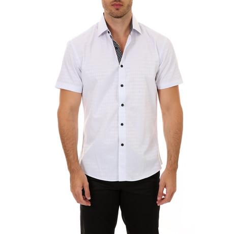 Frank Short-Sleeve Button-Up Shirt // White (XS)