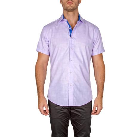 Russell Short-Sleeve Button-Up Shirt // Lilac (XS)