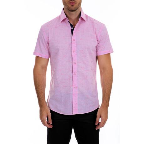 Norton Short Sleeve Button-Up Shirt // Pink (XS)