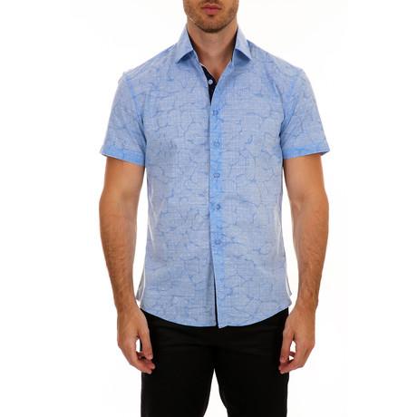 Norton Short Sleeve Button-Up Shirt // Blue (XS)