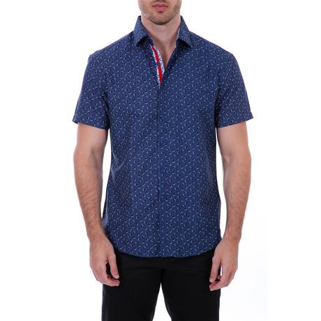 Willie Short Sleeve Button-Up Shirt // Navy (XS)