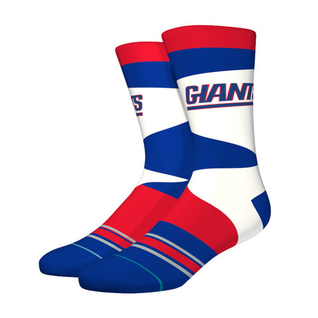 Ny Giants Retro Socks // Red + White + Blue (M)