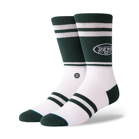 Jets Logo Socks // Green (M)