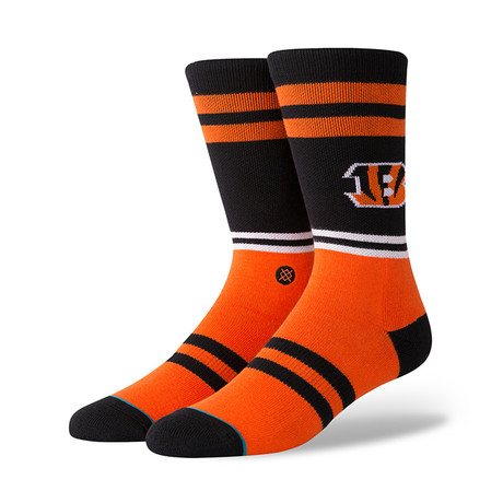 Bengals Logo Socks // Orange (M)