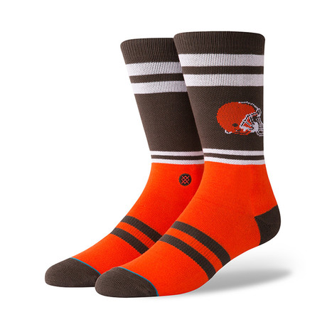 Browns Logo Socks // Brown (M)