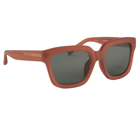 Men's PL51C4 Sunglasses // Frosted Amber + Green