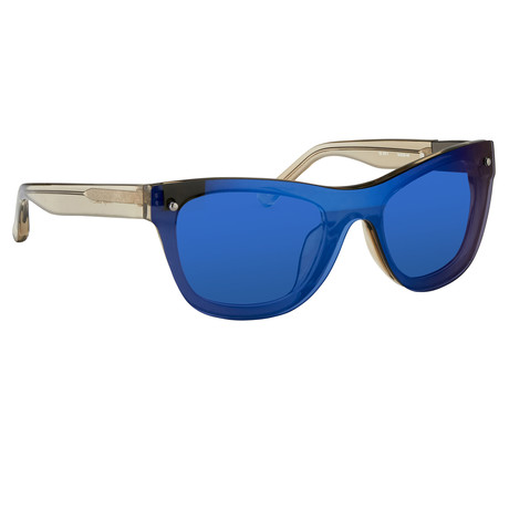 Men's PL34C10 Sunglasses // Green + Blue