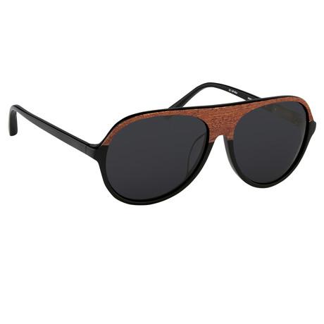 Men's PL126C3 Sunglasses // Brown + Black