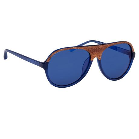 Unisex Pl126C4SUN Sunglasses // Brown + Submarine + Blue