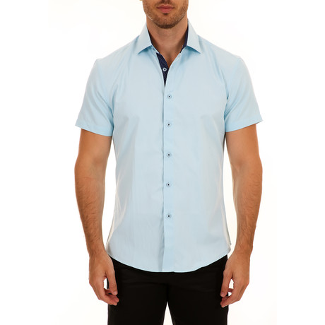 Casey Short Sleeve Button-Up Shirt // Turquoise (XS)