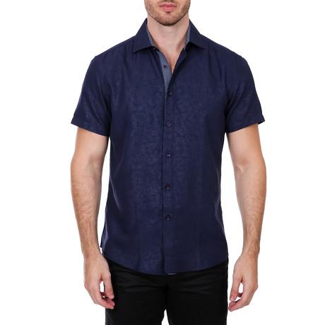 Gibson Short Sleeve Button-Up Shirt // Navy (XS)