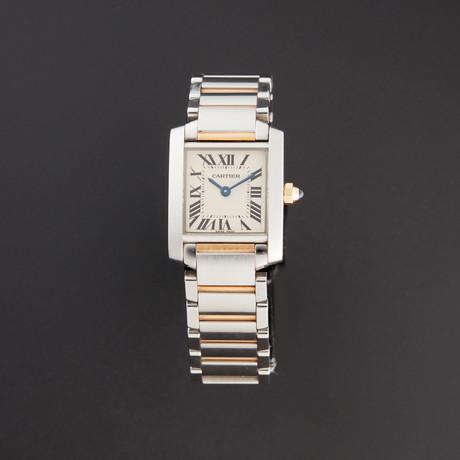 Cartier Ladies Tank Francaise Quartz // W51007Q4 // Pre-Owned