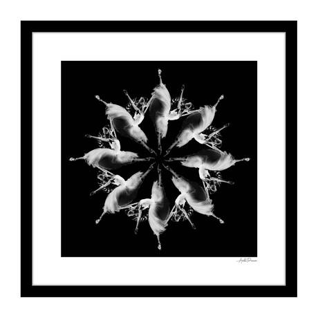 """Brisé Human Kaleidoscope Framed Wall Art (16""""W x 16""""H x 1""""D)"""