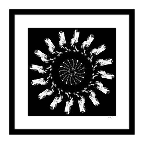 "Rhythm Human Kaleidoscope Framed Wall Art (16""W x 16""H x 1""D)"