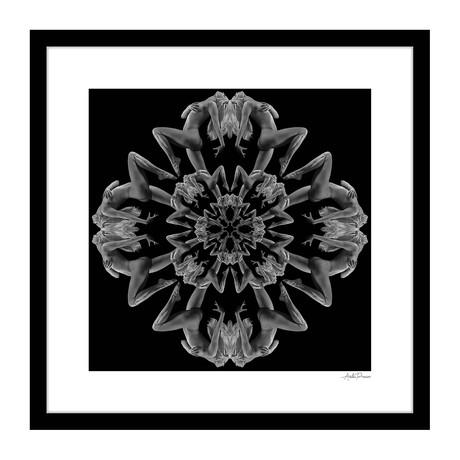"""Arabesque Human Kaleidoscope Framed Wall Art (16""""W x 16""""H x 1""""D)"""