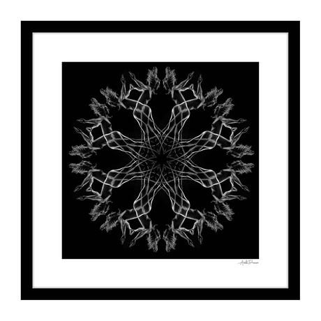 """Air Waves Human Kaleidoscope Framed Wall Art (16""""W x 16""""H x 1""""D)"""