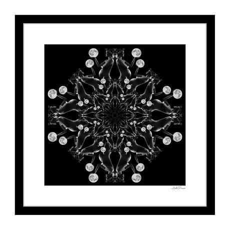 """Illuminate Human Kaleidoscope Framed Wall Art (16""""W x 16""""H x 1""""D)"""