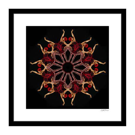 """Attitude Human Kaleidoscope Framed Wall Art (16""""W x 16""""H x 1""""D)"""
