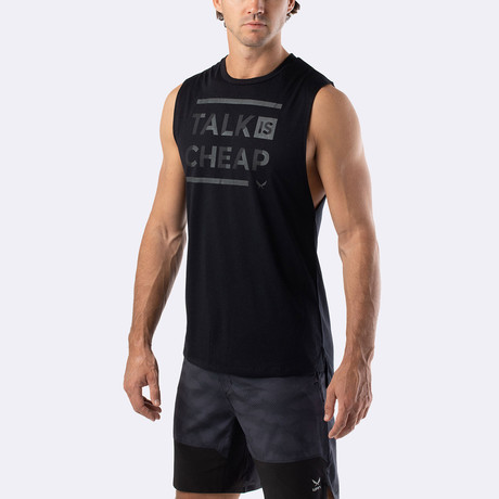 Talk Is Cheap Training Muscle Tank // Black (S)