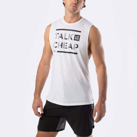 Talk Is Cheap Training Muscle Tank // White (S)