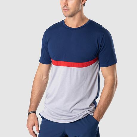 Uppercut T-Shirt // Navy + Gray (S)