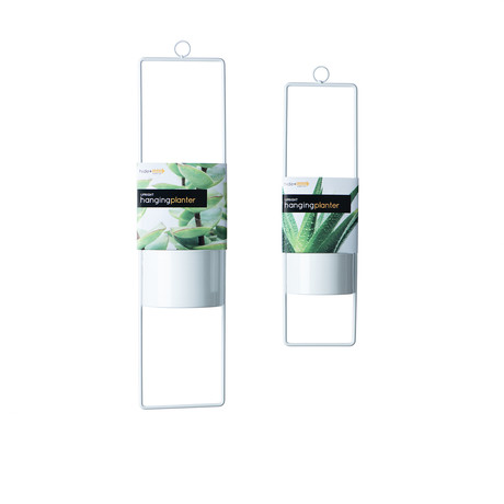 Upright Hanging Planter // Set of 2 // Small + Large (White)