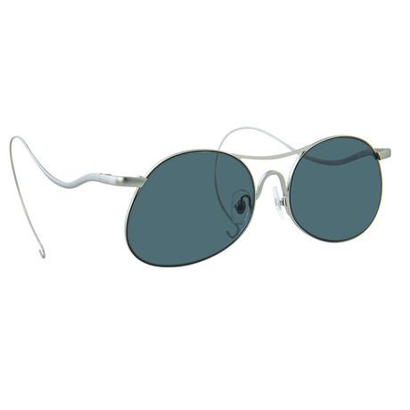 Unisex PL177C7 Sunglasses // White Gold + Silver