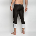 Compression Leggings // Black + White (S)