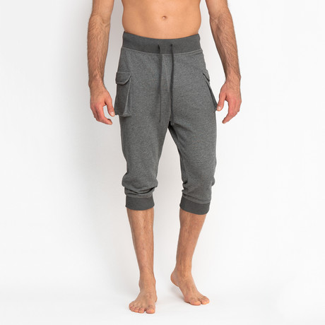 Cropped French Terry Pants + Cargo Pocket // Charcoal (S)