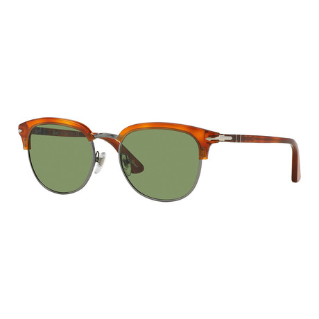 Persol Men's Clubmaster Sunglasses // Tortoise Gold+ Brown