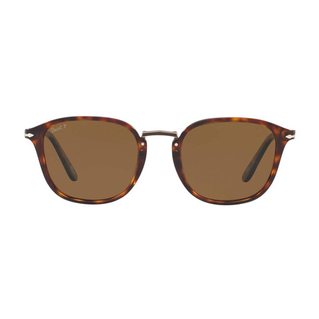 Combo Evolution Polarized Sunglasses // Tortoise Gold + Brown