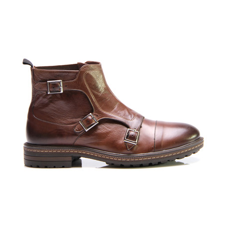 Jared Triple Monk Boot // Antique Brown (Euro: 40)