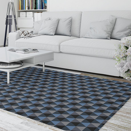 Prism Charcoal // Area Rug (2.6'L x 8'W)
