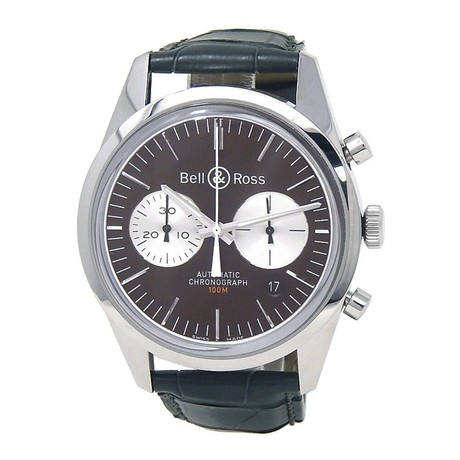 Bell & Ross Vintage Officer Chronograph Automatic // BRG126-BRN-ST/SCRS // New