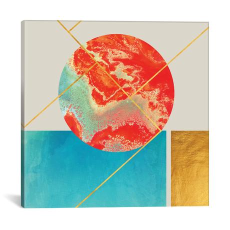 """Earth Sea // 83 Oranges (12""""W x 12""""H x 0.75""""D)"""