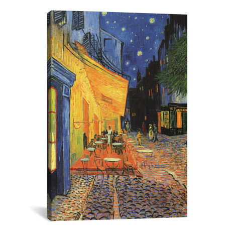 "Café Terrace at Night // Vincent van Gogh (18""W x 26""H x 0.75""D)"