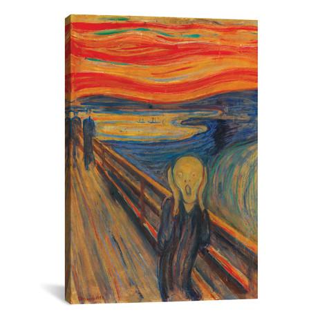 "The Scream, 1893 (Oil, Tempera & Pastel On Cardboard) // Edvard Munch (26""W x 40""H x 1.5""D)"