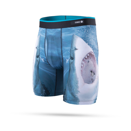Shark Tooth Boxer Briefs // Navy (S)