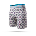 Spikey Face Boxer Briefs // Heather Gray (S)