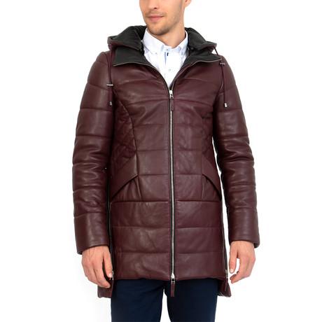 Decades Leather Jacket // Bordeaux (S)