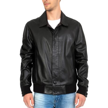 Away Leather Jacket // Black (S)