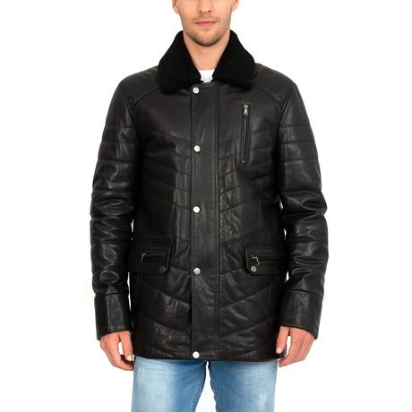 Bladed Leather Jacket // Black (S)
