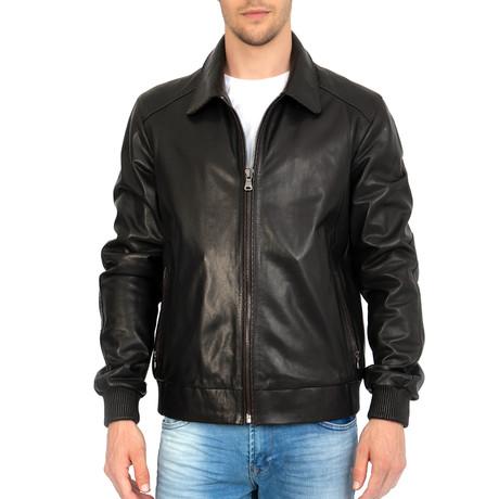 Eight Iron Leather Jacket // Black (S)