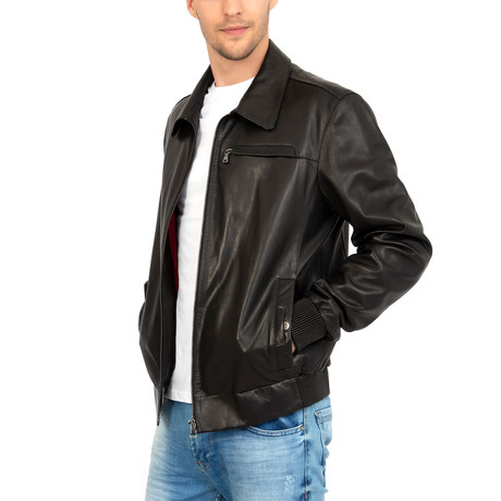 Carries Leather Jacket // Black (S)