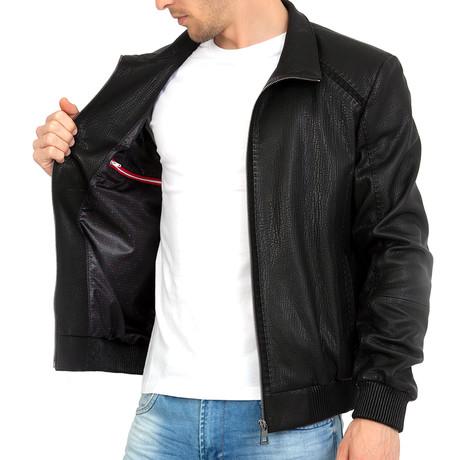 Suit Leather Jacket // Black (S)