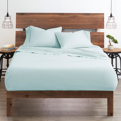 Good Kind  Essential 4 Piece Bed Sheet Set // Aqua (Twin)