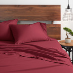 Good Kind  Essential 4 Piece Bed Sheet Set // Burgundy (Twin)