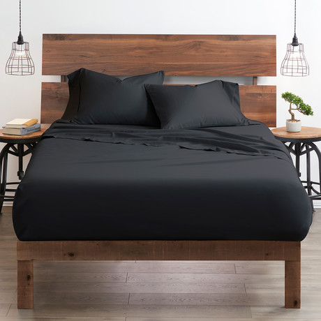 Good Kind Essential 4 Piece Bed Sheet Set // Black (Twin)